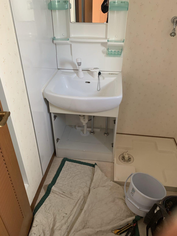 栓 交換 洗面 台 水